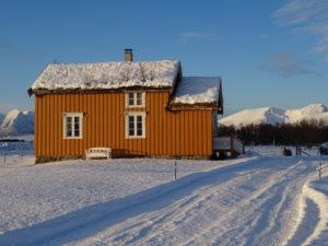Gule hus vinter