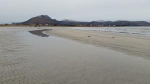 Stranden nær Loviktunet