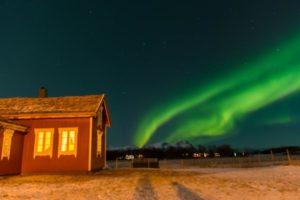 Nordlys over Rødhuset Foto Marco Stalder